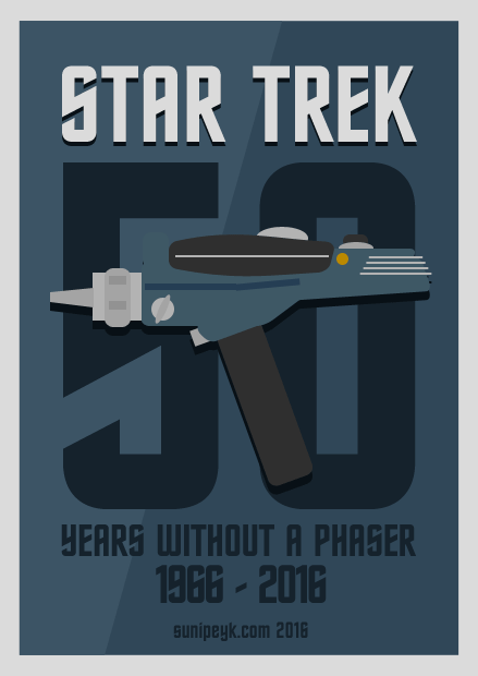 Flat poster with 'phaser' for Star Trek 50th  Anniversary