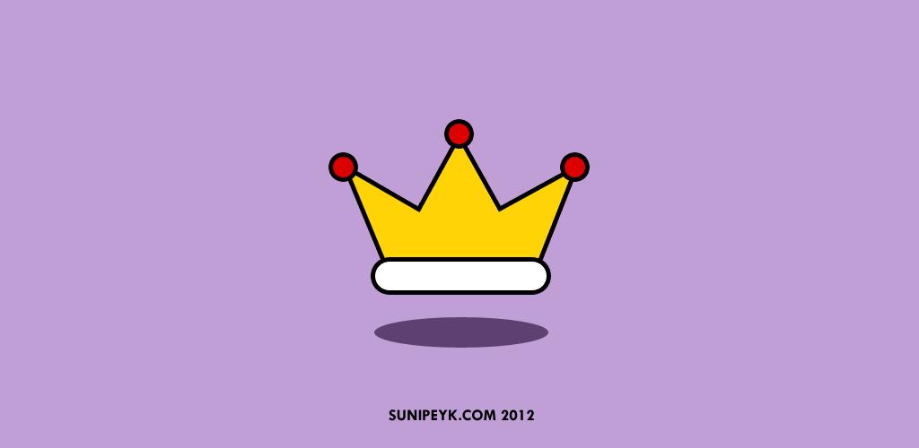 içeriğin kral olduğunu göstermek için bir taç ikonu