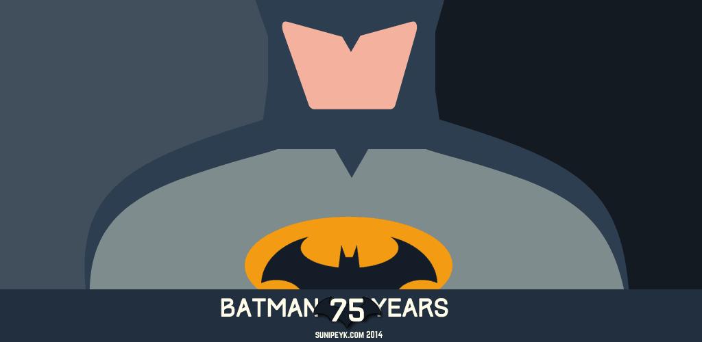 batman flat ikonu 75. yıl