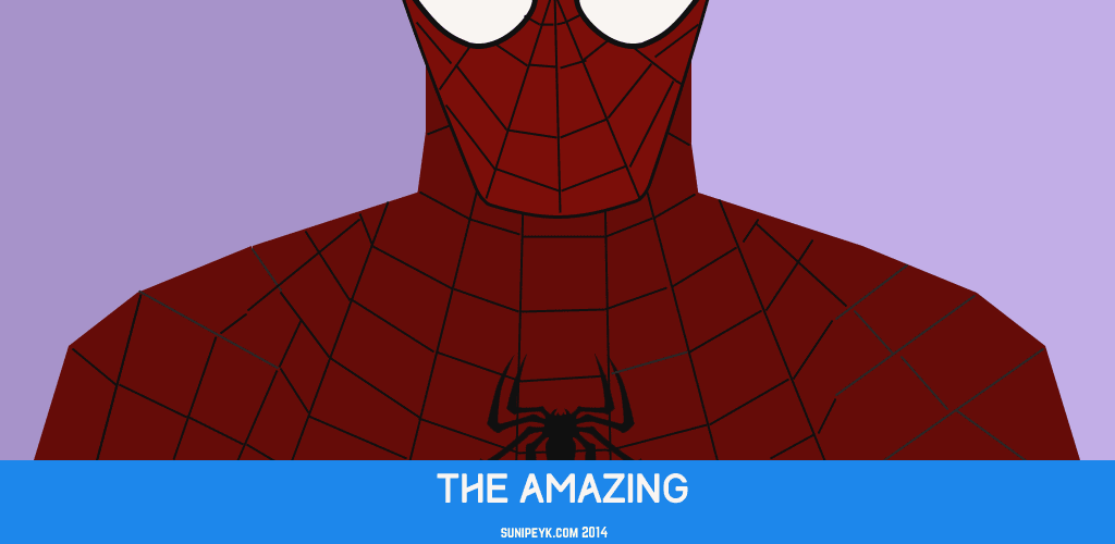 spiderman flat hero