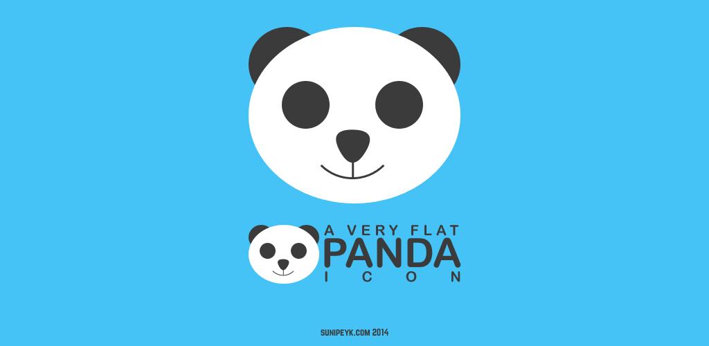 flat panda ikonu