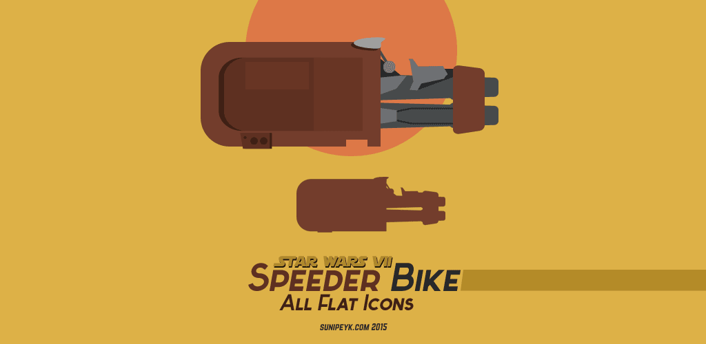 Speeder bike icons