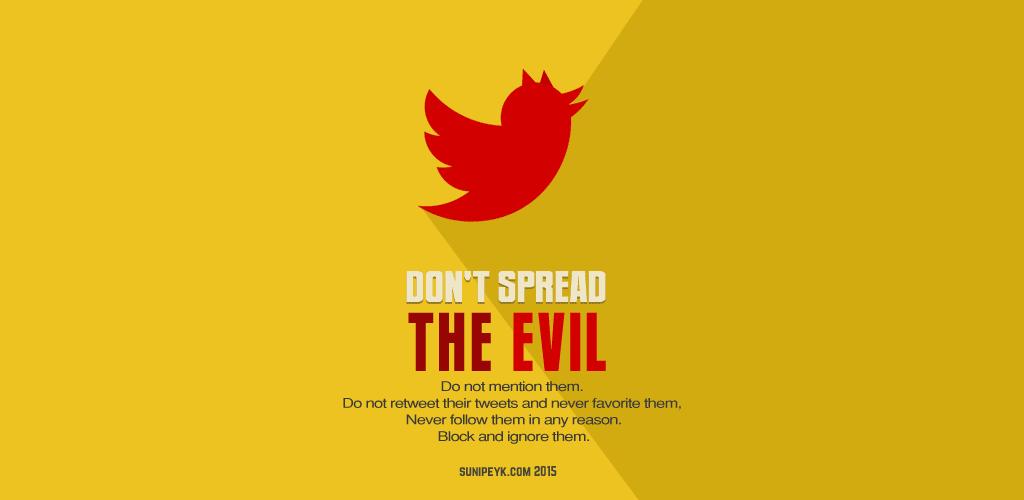 A red twitter bird poster