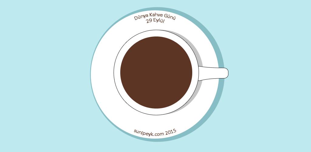 Dünya kahve günü için kahve fincanı ikonu