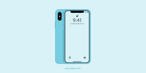 blue iPhone X