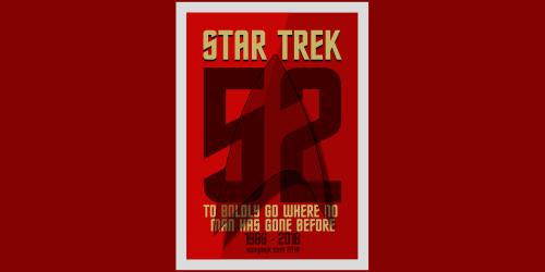 Star Trek 52 yıl posteri