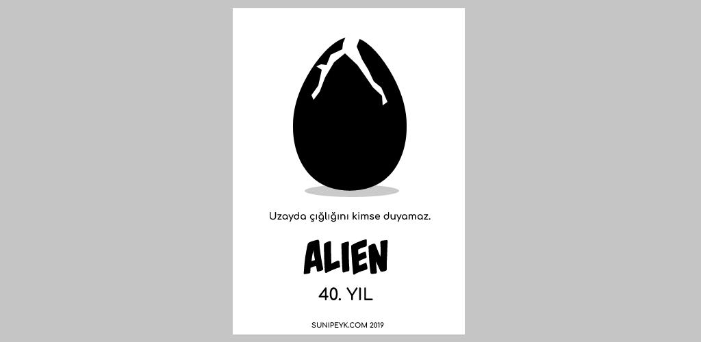 Alien 40. yıl posteri