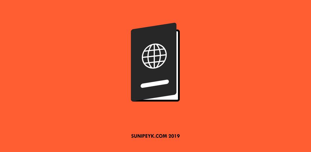 pasaport defteri ikonu