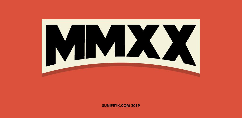 MMXX roma rakamı ile 2020