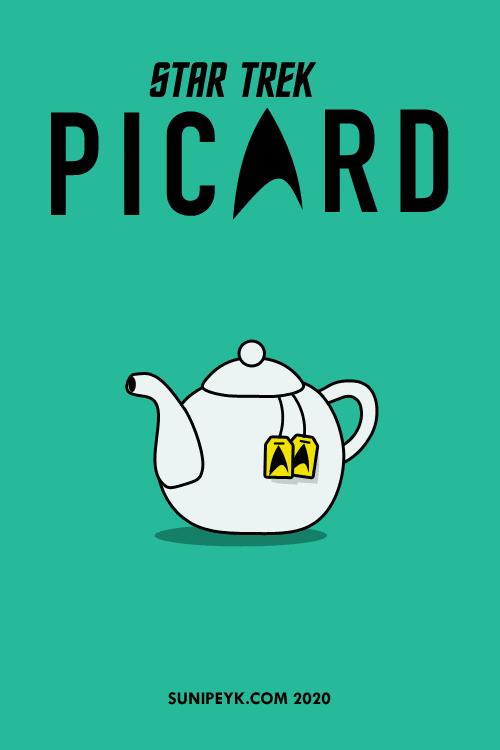 Star Trek: Picard çay demliği flat posteri