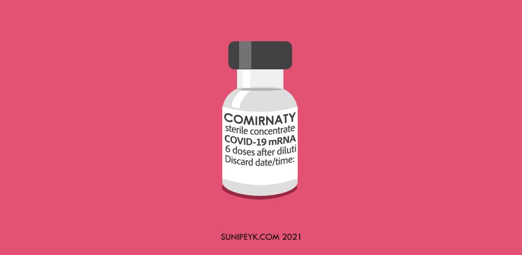 pfizer biontech comirnaty aşı şisesi ikonu